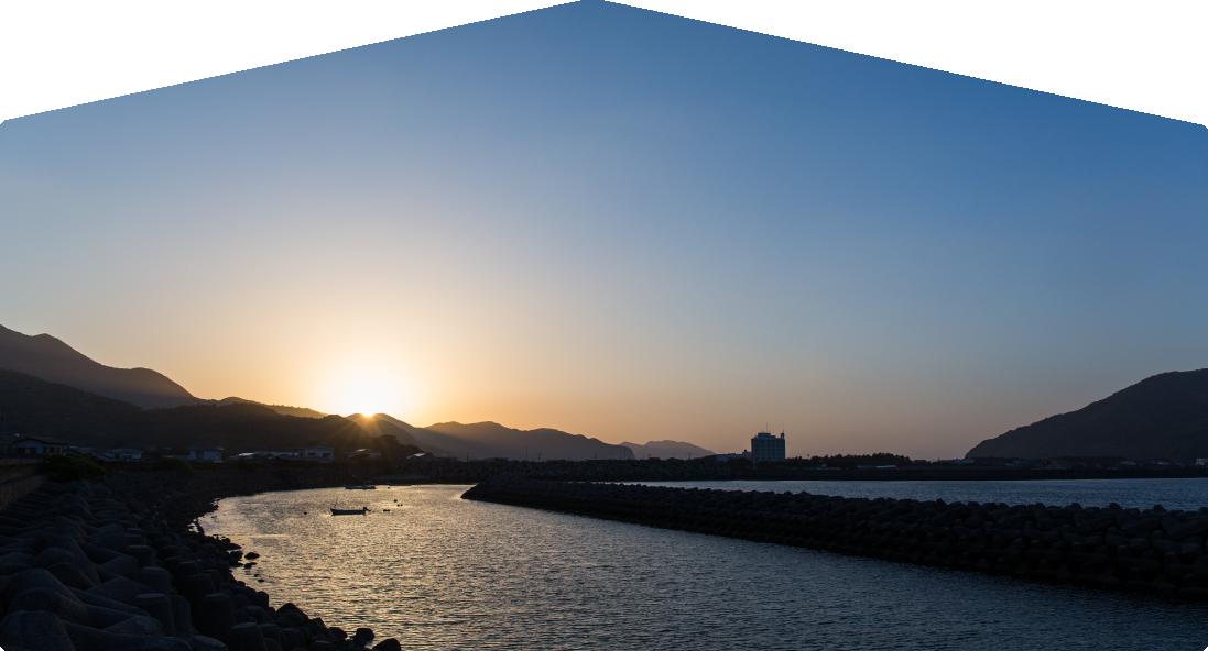 甑島の夕暮れ